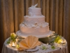 A delicious tiered wedding cake at the Riverside Hotel in Ft. Lauderdale.