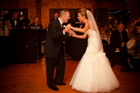 Dance with father at Lingrow Farm wedding, Pittsburgh.