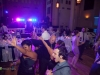 Guests dance to the John Parker Band\'s music at a Grand Hall at the Priory, Pittsburgh wedding reception.