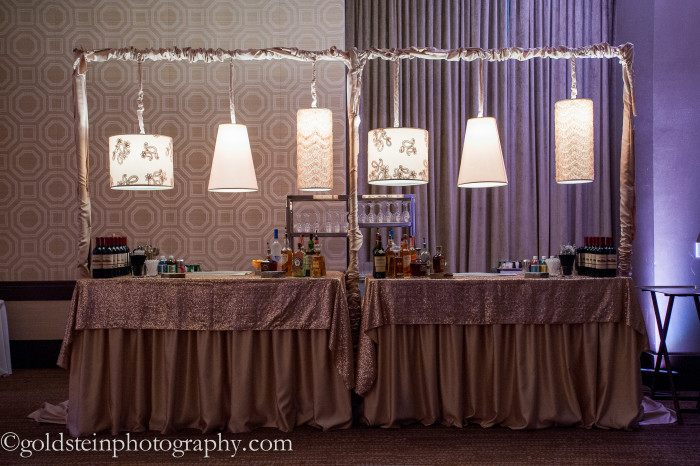 Fairmont Hotel Pittsburgh Wedding Reception: Glamorous Bar