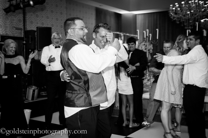 Fairmont Hotel Pittsburgh Wedding Reception: Friends Fake Slow Dancing