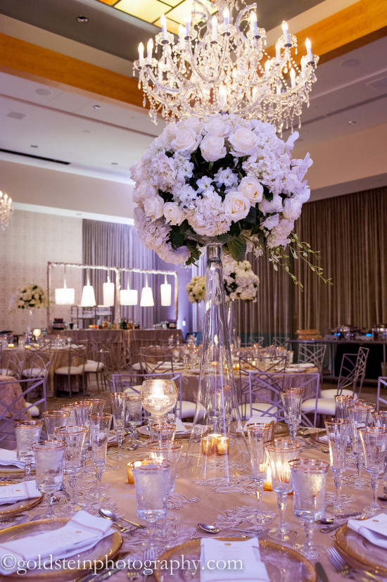 Fairmont Hotel Pittsburgh Wedding Reception: Blinged out Reception Dinner
