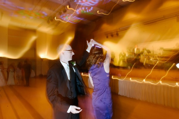 Circuit Center Pittsburgh Wedding - Dancing in Front of Stage