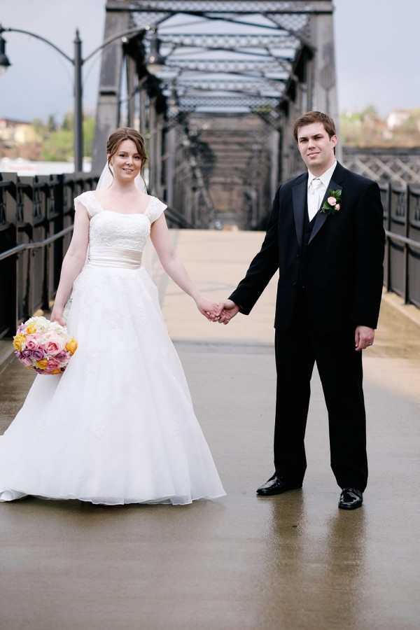 Circuit-Center-Pittsburgh-Wedding-Newlyweds-Hold-Hands