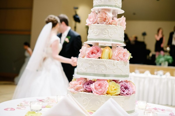 Circuit Center Pittsburgh Wedding Reception - Four-Tier Wedding Cake