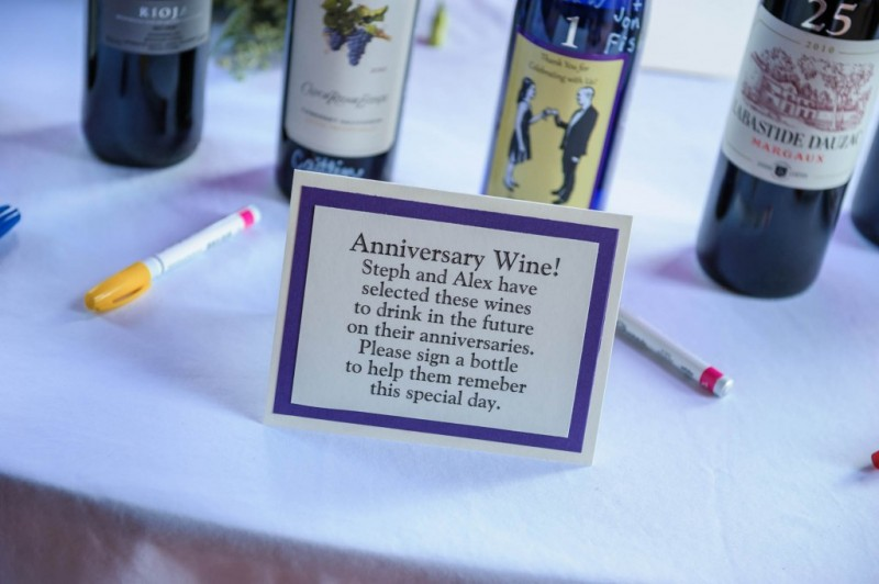 Peek n Peak Wedding Anniversary Wine Guest Book Table