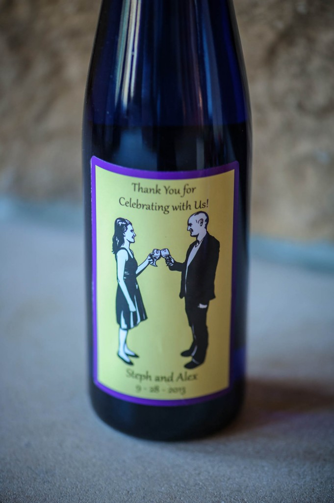 "Peek n Peak Wedding Offering a ""Thank You"" Guest Wine"