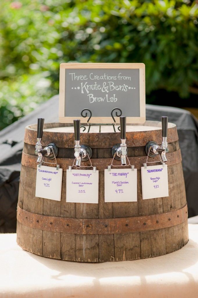 Foxley Farm Wedding Reception Beer Lab Barrel