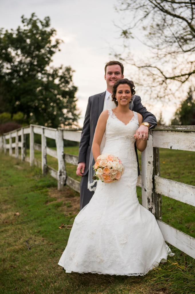 Montour Heights Pittsburgh Wedding Bride and Groom in Rustic Outdoor Venue