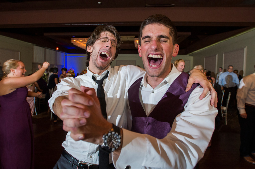 Montour Heights Pittsburgh Wedding Reception with Guests Singing