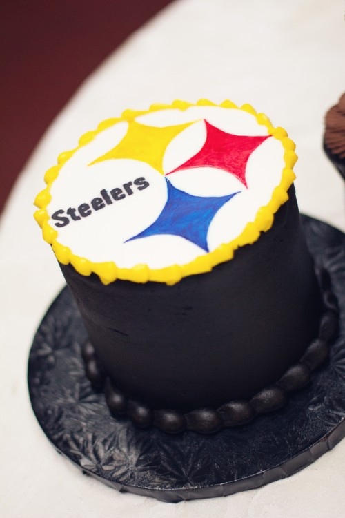 Green Gables Jennerstown Wedding Small Steelers Football Cake