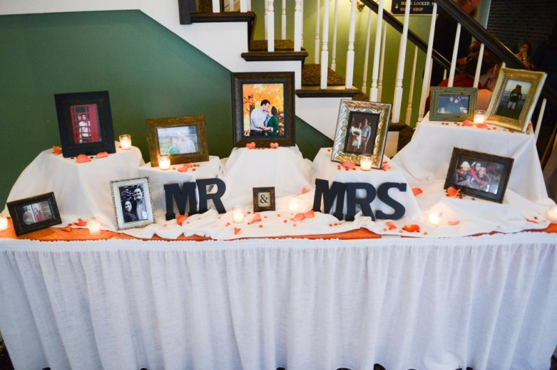 Montour Heights Pittsburgh Wedding Mr and Mrs Memory Table