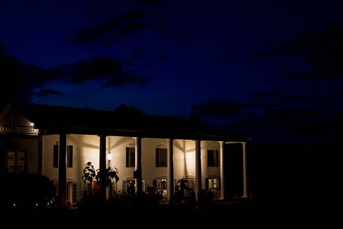 Foxley Farm Wedding Reception in White Vintage Farmhouse
