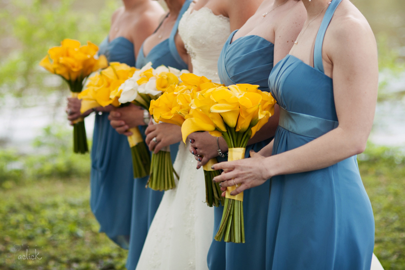 The Links Wedding Bride and Bridesmaid Calla Lily Flowers