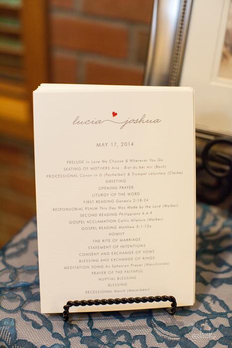 The Links Wedding Elegant Ceremony Program Events