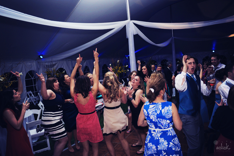 The Links Wedding Guests Dancing Under White Reception Tent