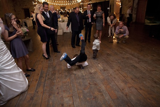 West Overton Barn Scottsdale Wedding Reception with Guest Break Dancing