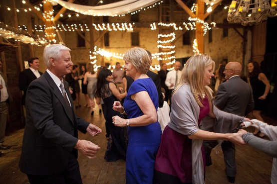 West Overton Barn Scottsdale Wedding Reception with Guests on Dance Floor