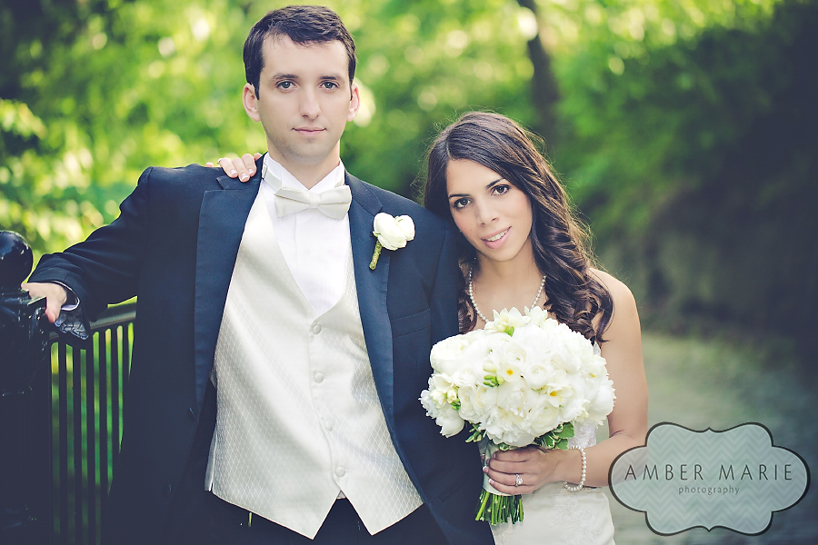 Carnegie Museums Pittsburgh Wedding - Newlyweds Pose Together