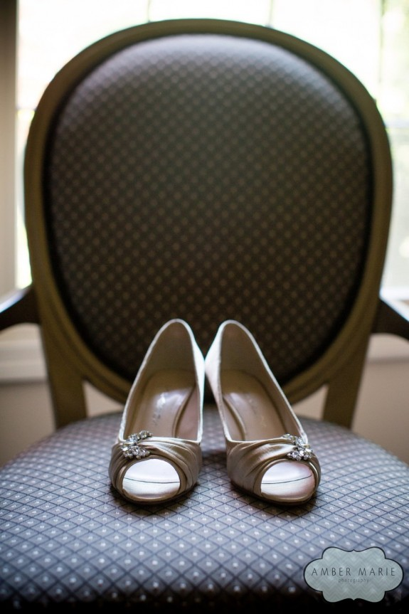 Carnegie Museums Pittsburgh Wedding - Bride's Rhinestone Wedding Heels
