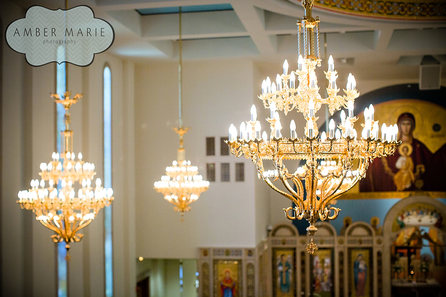 Carnegie Museums Pittsburgh Wedding Ceremony - Greek Orthodox Church Chandeliers