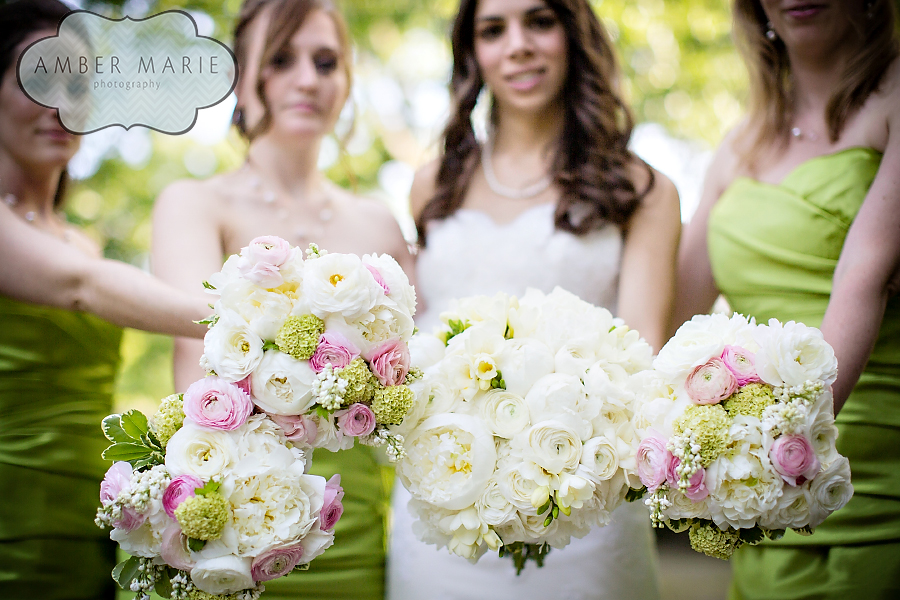 Carnegie Museums Pittsburgh Wedding - Bride and Bridemaid's Bouquets