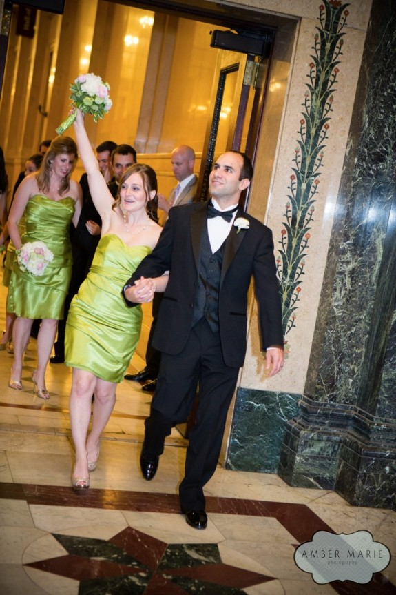 Carnegie Museums Pittsburgh Wedding Reception - Bridesmaid's Grand Entrance
