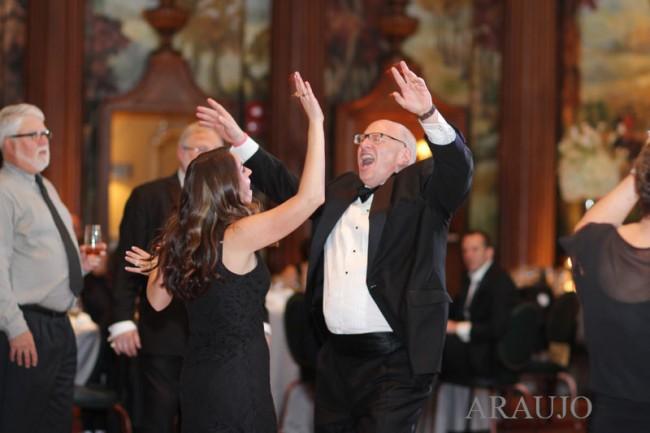 Duquesne Club Pittsburgh Wedding Reception: Woman and Man on Dance Floor