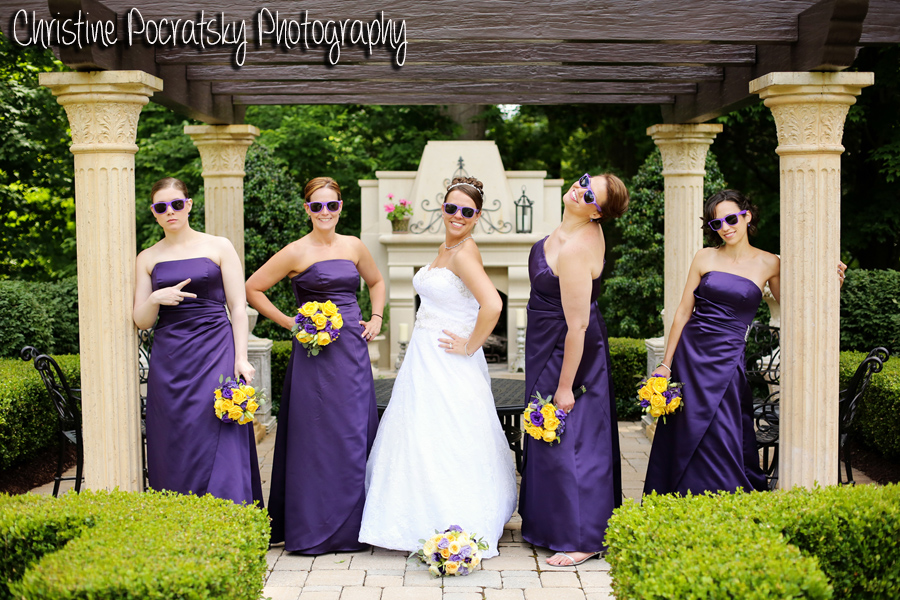 Hopwood Social Hall Wedding - Silly Bridal Wedding Party Photo