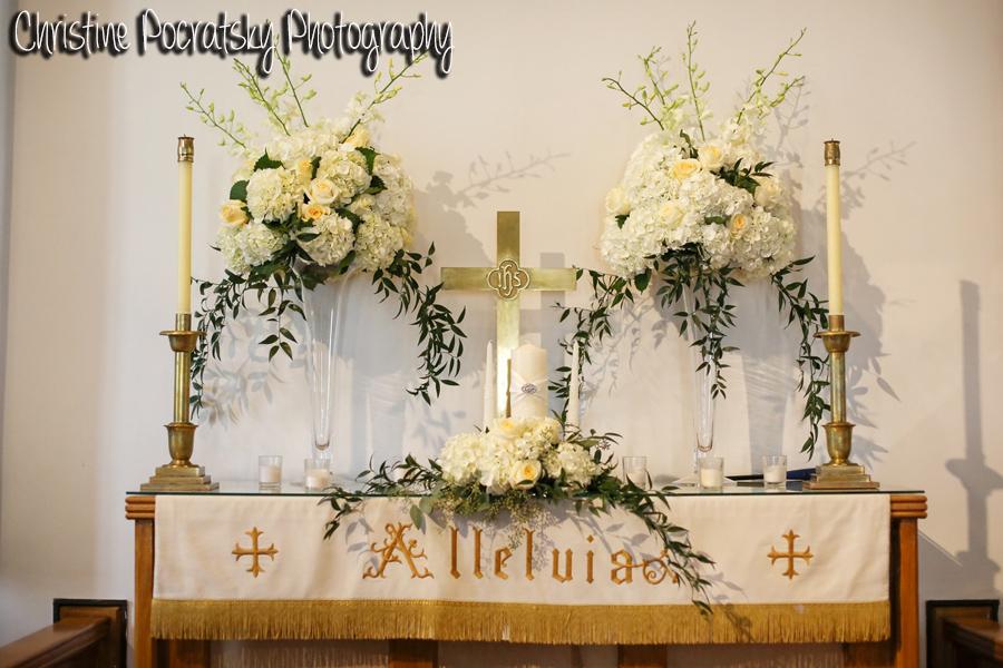 Hopwood Social Hall Wedding Ceremony - Chapel Altar Where Couples Marry
