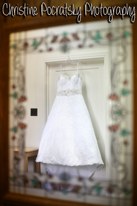 Hopwood Social Hall Wedding - Bride's A-Line Gown