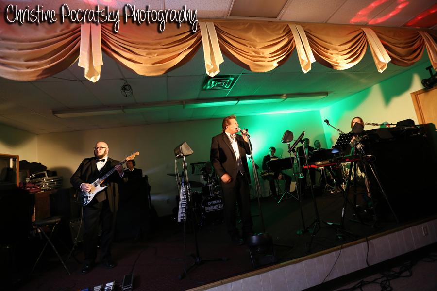 Hopwood Social Hall Wedding Reception - Wedding Band on Stage
