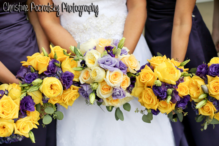 Hopwood Social Hall Wedding - Bride's Wedding Party Bouquets