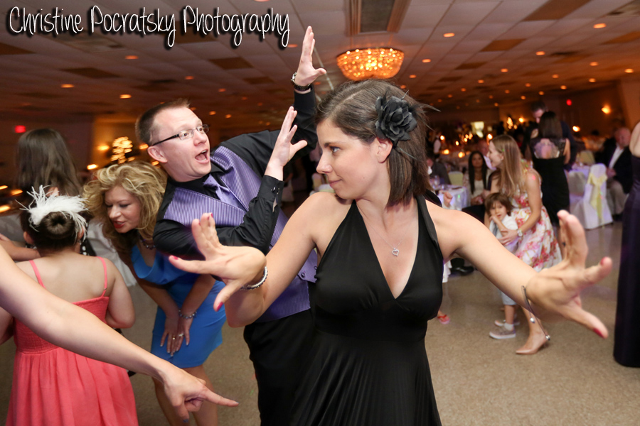 Hopwood Social Hall Wedding Reception - Guests Dancing Silly to Band