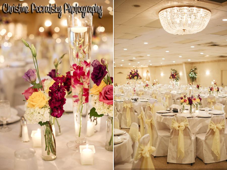 Hopwood Social Hall Wedding Reception - White Table Settings