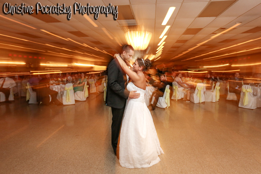 Hopwood Social Hall Wedding Reception - Bride and Groom Slow Dance