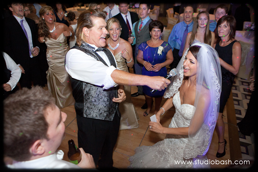 Power Center Ballroom Wedding Reception - Bride Sings with Band Leader