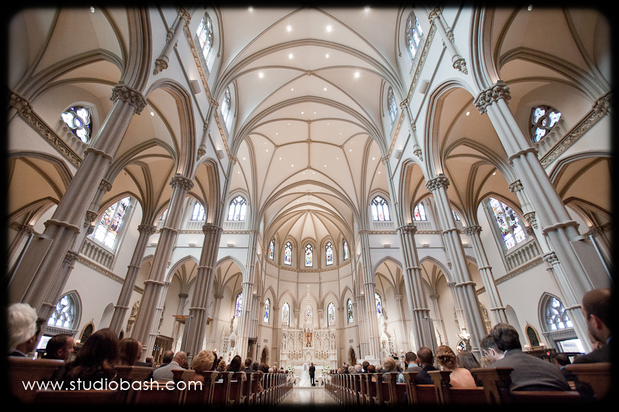 Power Center Ballroom Wedding Ceremony - Elaborate Church Interior with White Vaulted Ceilings