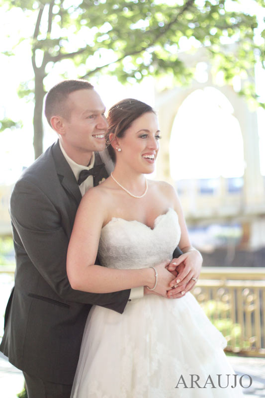 Renaissance Hotel Pittsburgh Wedding - Newlyweds Embracing