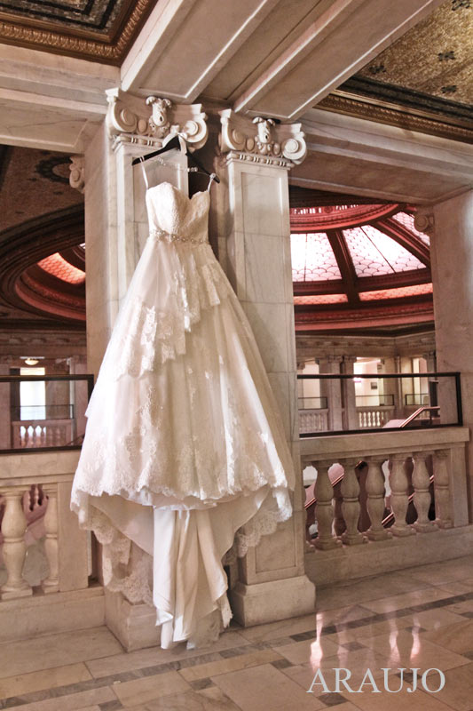 Renaissance Hotel Pittsburgh Wedding -Beautiful White Wedding Dress