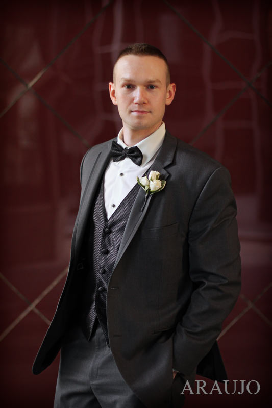 Renaissance Hotel Pittsburgh Wedding - Groom Sports High-End Menswear