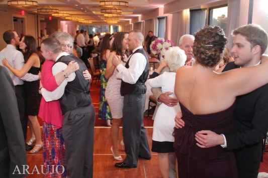 Renaissance Hotel Pittsburgh Wedding Reception - Full Dance Floor with Family and Friends