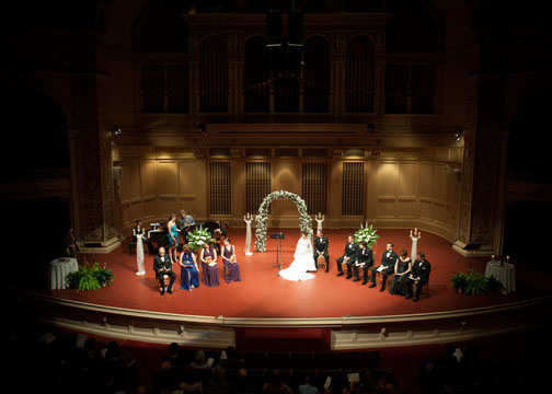 Carnegie Music Hall Pittsburgh Wedding Ceremony: Ceremony on Music Hall Stage