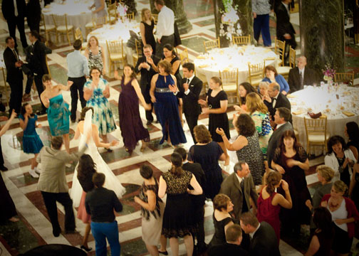 Carnegie Music Hall Pittsburgh Wedding Reception: Guests on Dance Floor