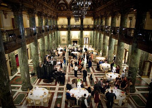 Carnegie Music Hall Pittsburgh Wedding Reception: Grand Foyer Reception Space
