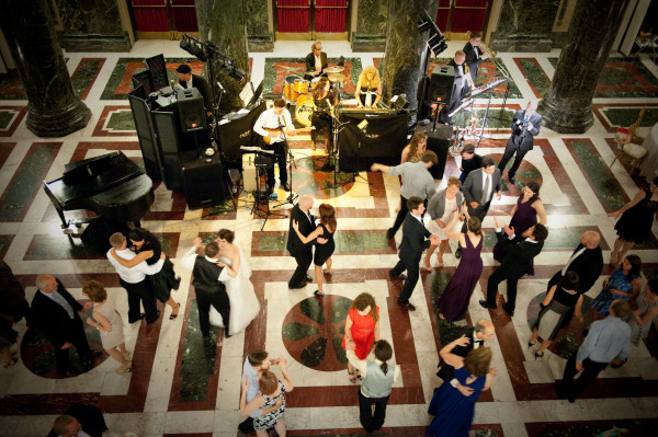 Carnegie Music Hall Pittsburgh Wedding: Couples Dancing to Band