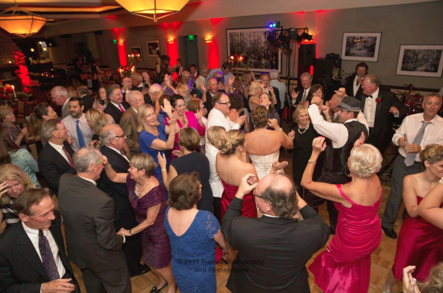 Golf Lodge at the Quarry Wedding Reception: Crowded Dance Floor