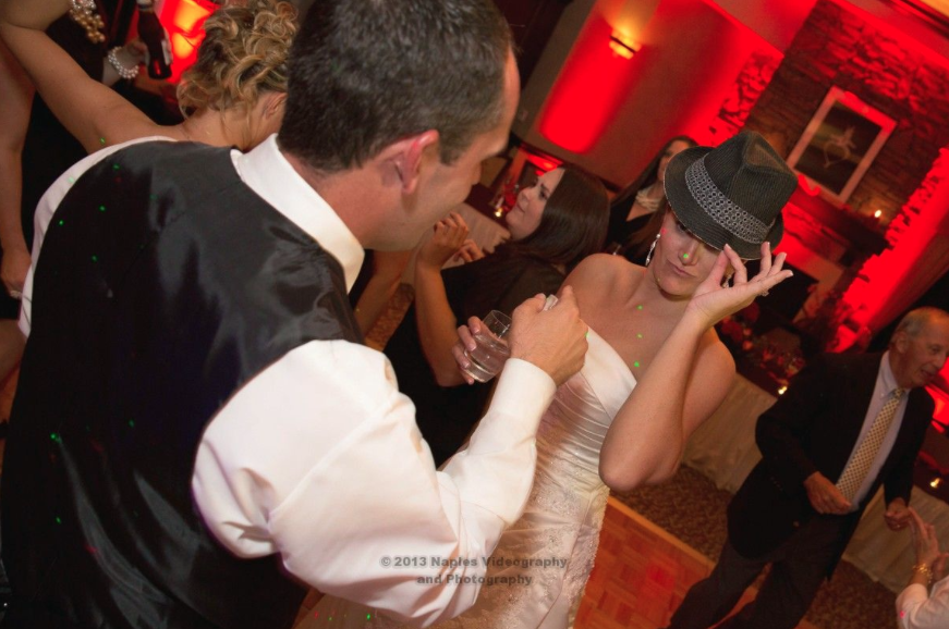 Golf Lodge at the Quarry Wedding: Bride and Groom Having a Fun Dance