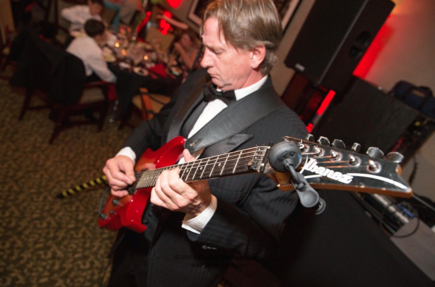 Golf Lodge at the Quarry Wedding Reception: Wedding Band Guitarist