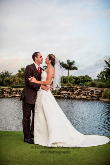 Golf Lodge at the Quarry Wedding: Bride and Groom on the Green